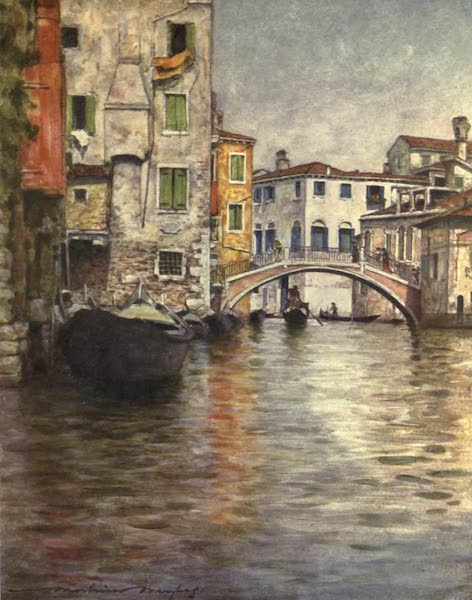 Venice, by Mortimer Menpes - A Quiet Waterway (1904)