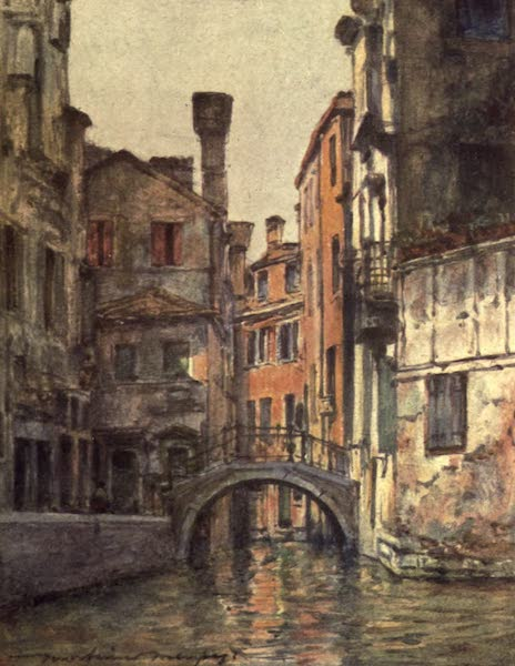 Venice, by Mortimer Menpes - Canal Priuli (1904)