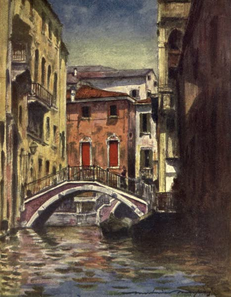Venice, by Mortimer Menpes - Osmarin Canal (1904)