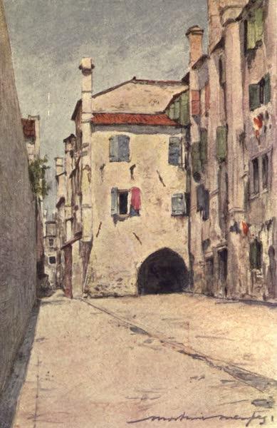 Venice, by Mortimer Menpes - A Sotto Portico (1904)