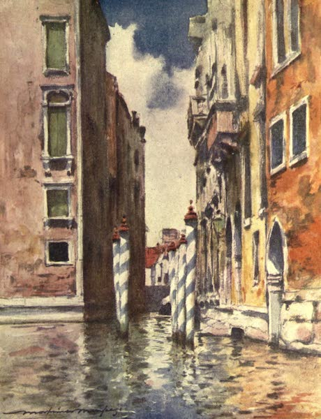 Venice, by Mortimer Menpes - A Narrow Canal (1904)