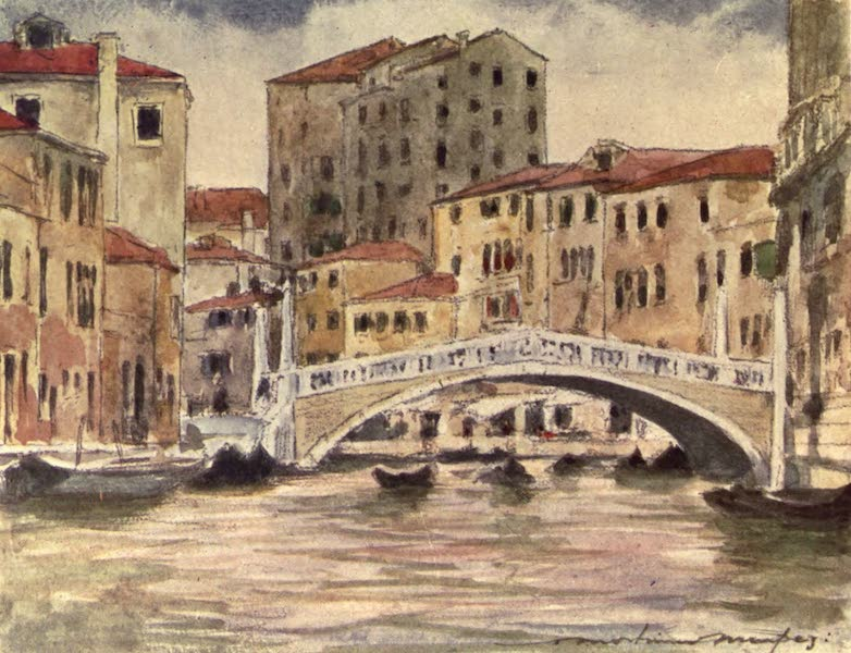 Venice, by Mortimer Menpes - Bridge near the Palazzo Labia (1904)