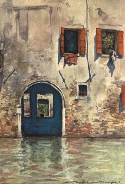 Venice, by Mortimer Menpes - The House with the Blue Door (1904)