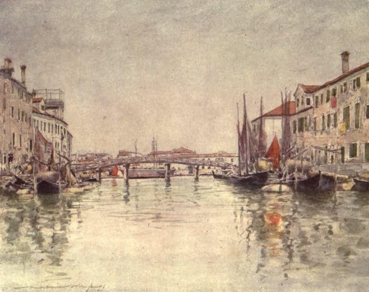 Venice, by Mortimer Menpes - Canal in Giudecca Island (1904)