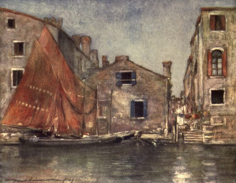 Venice, by Mortimer Menpes - The Orange Sail (1904)