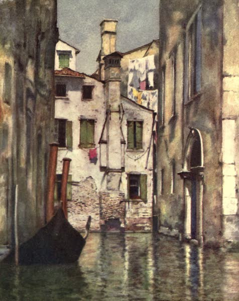Venice, by Mortimer Menpes - A Quiet Rio (1904)