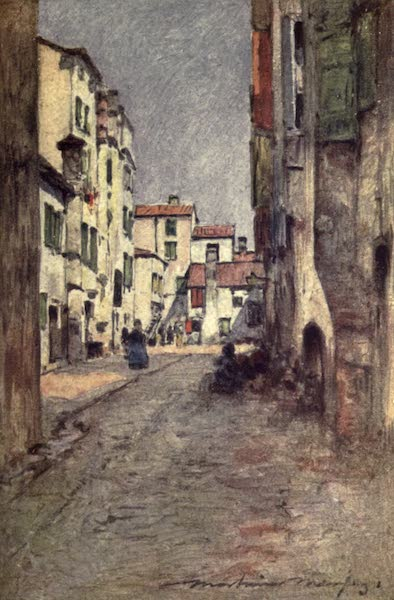 Venice, by Mortimer Menpes - A Back Street (1904)