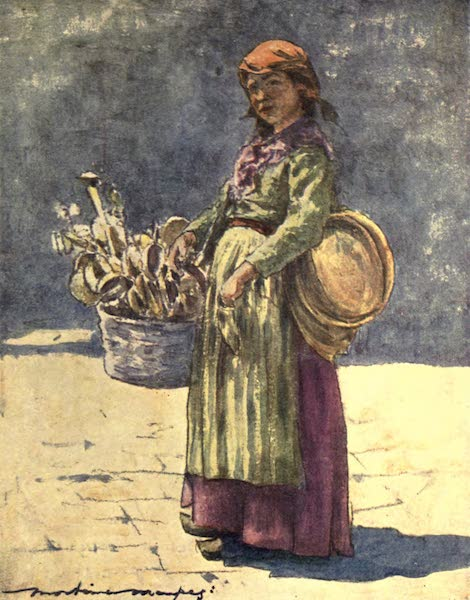 Venice, by Mortimer Menpes - The Wooden Spoon Seller (1904)