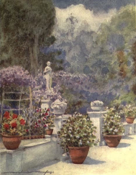 Venice, by Mortimer Menpes - Mrs. Eden's Garden in Venice (1904)