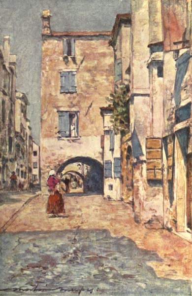Venice, by Mortimer Menpes - In a Side Street, Chioggia (1904)
