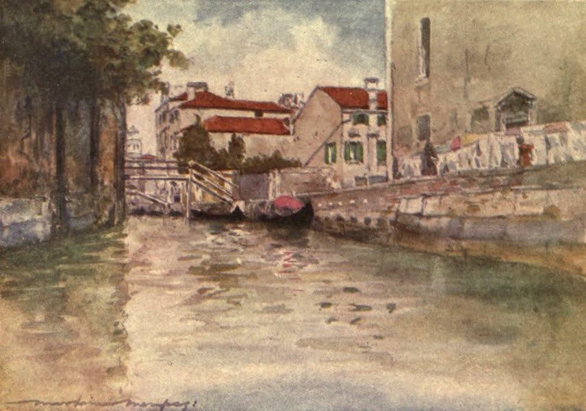 Venice, by Mortimer Menpes - Rio e Chiesa degli Ognissanti (1904)