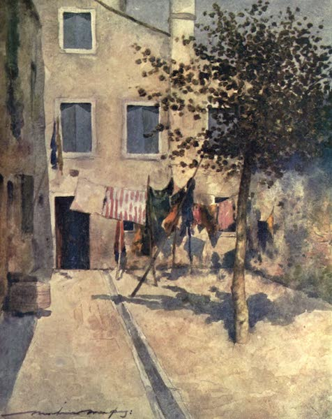 Venice, by Mortimer Menpes - A Campiello (1904)
