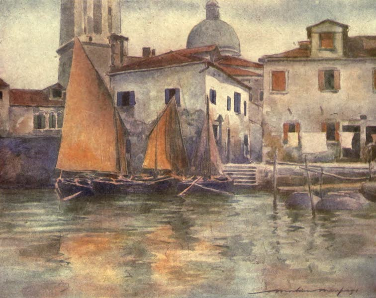 Venice, by Mortimer Menpes - Fishing Boats from Chioggia (1904)
