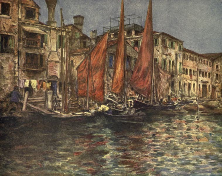 Venice, by Mortimer Menpes - The Fish Market (1904)