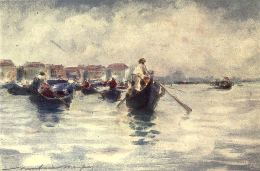 Venice, by Mortimer Menpes - Midday on the Lagoon (1904)