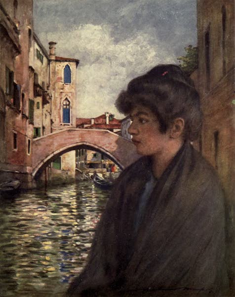 Venice, by Mortimer Menpes - A Traghetto (1904)