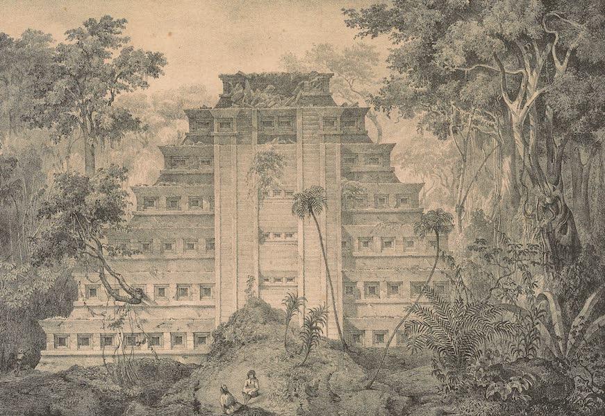 Viaje Pintoresco y Arqueolojico de la Republica Mejicana - La Piramide de Papantala (1840)