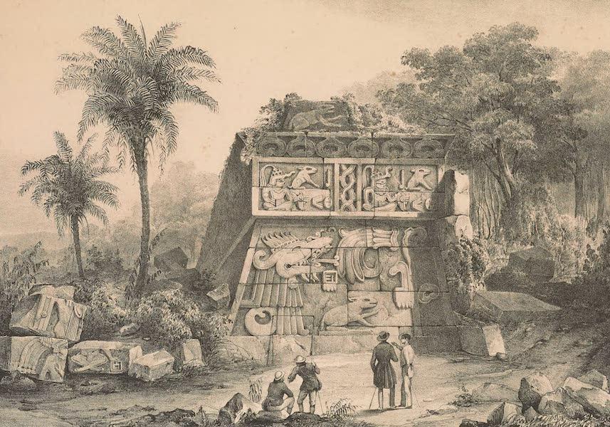 Viaje Pintoresco y Arqueolojico de la Republica Mejicana - Ruinas de la Piramide de Xochicalco (1840)