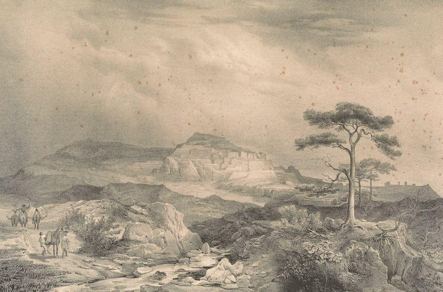 Viaje Pintoresco y Arqueolojico de la Republica Mejicana - Vista General de las Ruinas de la Quemada (1840)