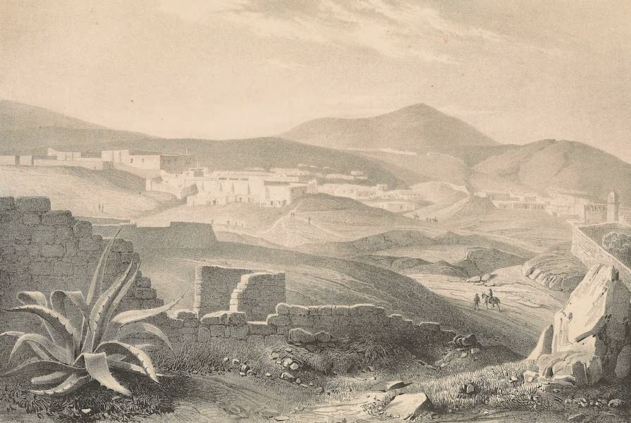 Viaje Pintoresco y Arqueolojico de la Republica Mejicana - Vista de la Mina de Veta Grande cerca de Zacatecas (1840)