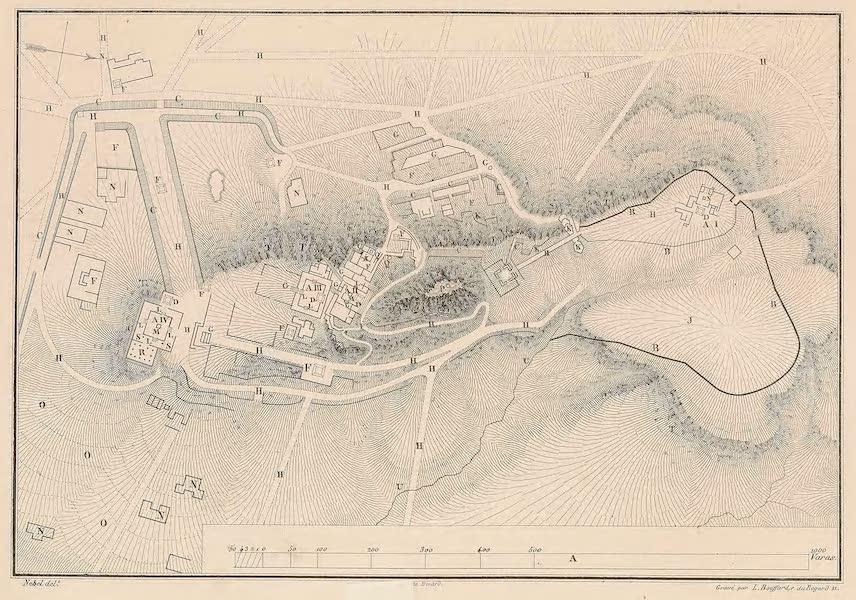 Viaje Pintoresco y Arqueolojico de la Republica Mejicana - Plan de las Ruinas de la Quemada cerca de villa nueva (1840)