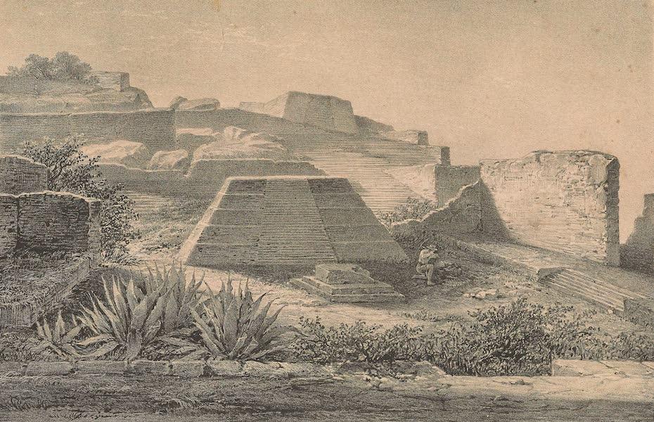 Viaje Pintoresco y Arqueolojico de la Republica Mejicana - Interior del Templo A II del Plan de las Ruinas de la Quemada (1840)