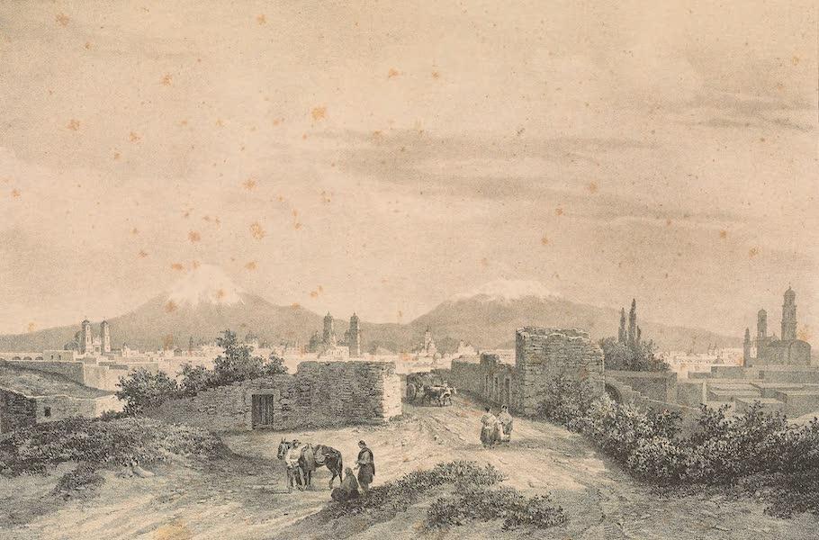 Viaje Pintoresco y Arqueolojico de la Republica Mejicana - Vista de Puebla de Los Angeles (1840)