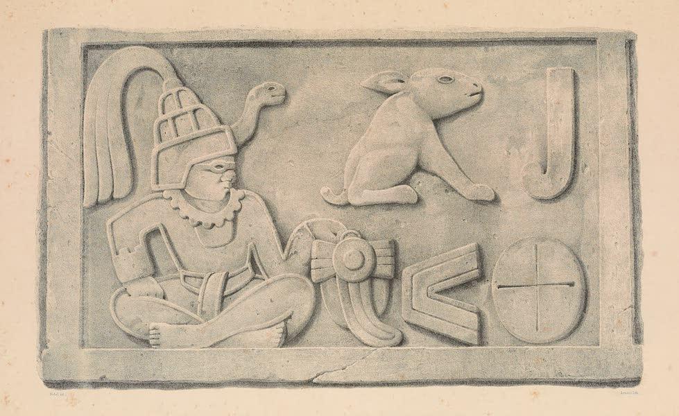 Viaje Pintoresco y Arqueolojico de la Republica Mejicana - Bajo Relieve de la Piramide de Xochicalco (I) (1840)