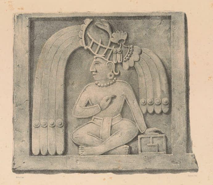 Viaje Pintoresco y Arqueolojico de la Republica Mejicana - Bajo Relieve de la Piramide de Xochicalco (II) (1840)
