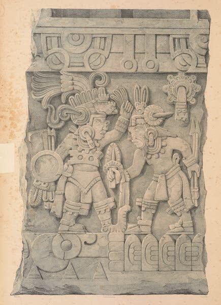 Viaje Pintoresco y Arqueolojico de la Republica Mejicana - Grupo de la Piedra de Sacrificio de Tamano Medio Natural (1840)