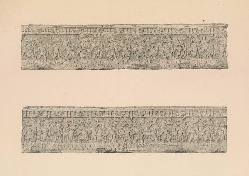 Viaje Pintoresco y Arqueolojico de la Republica Mejicana - Bajo Relieve de la Piedra de Sacrificio (1840)