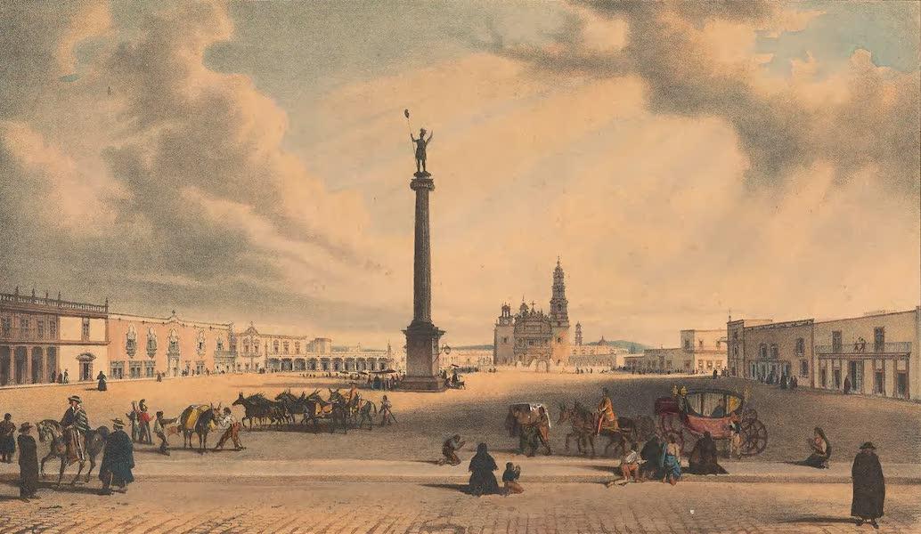Viaje Pintoresco y Arqueolojico de la Republica Mejicana - Interior de Aguas Calientes (1840)