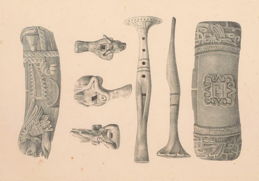Viaje Pintoresco y Arqueolojico de la Republica Mejicana - Instrumentos de Musica (1840)