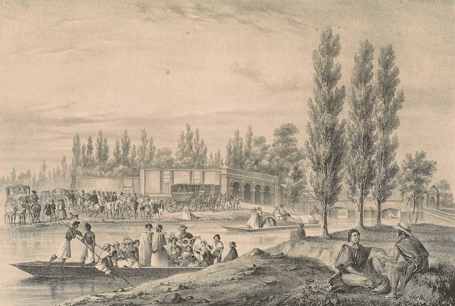 Viaje Pintoresco y Arqueolojico de la Republica Mejicana - Paseo de la Viga en Mexico (1840)