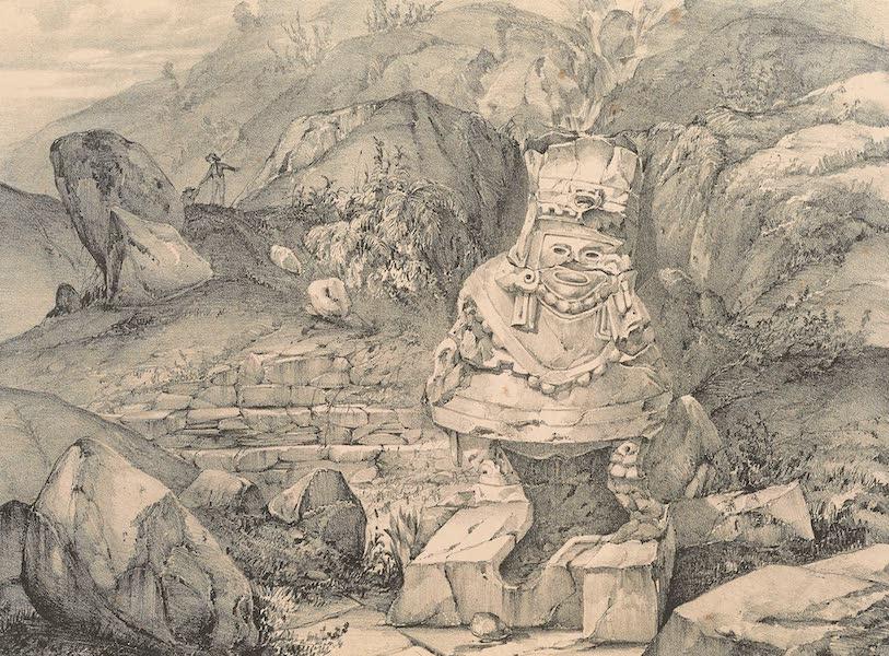 Viaje Pintoresco y Arqueolojico de la Republica Mejicana - Fuente entre las Ruinas de Tusapan (1840)