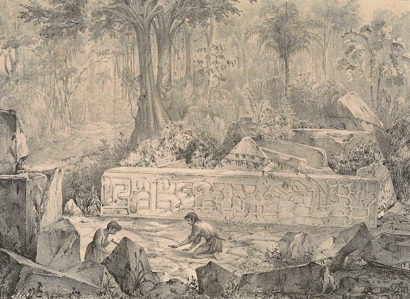 Viaje Pintoresco y Arqueolojico de la Republica Mejicana - Piedra en el Monte de Mapilca (1840)