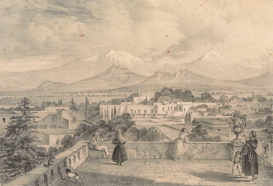 Vista Sobre los Vulcanes de Mexico desde el Pueblo de Tacubaya