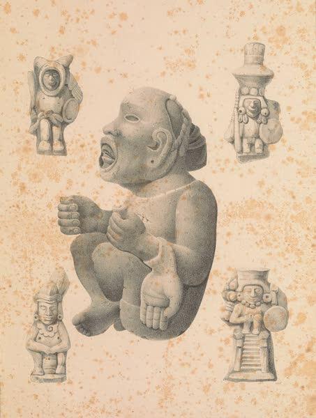 Viaje Pintoresco y Arqueolojico de la Republica Mejicana - Figuras de Piedra y de Barro del Tiempo de los Indios Antiguos (1840)