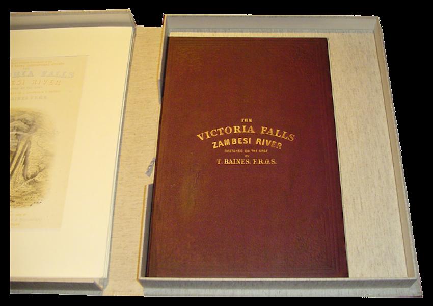 Victoria Falls, Zambesi River - Book Display I (1865)