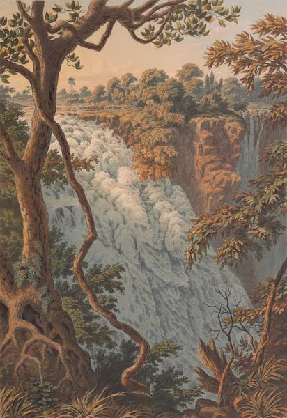 Victoria Falls, Zambesi River - The Leaping Water or Westernmost Cataract (1865)