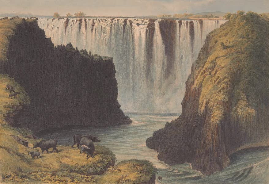 Victoria Falls, Zambesi River - Centre Rock Fall and the Eastern Cataracts (1865)