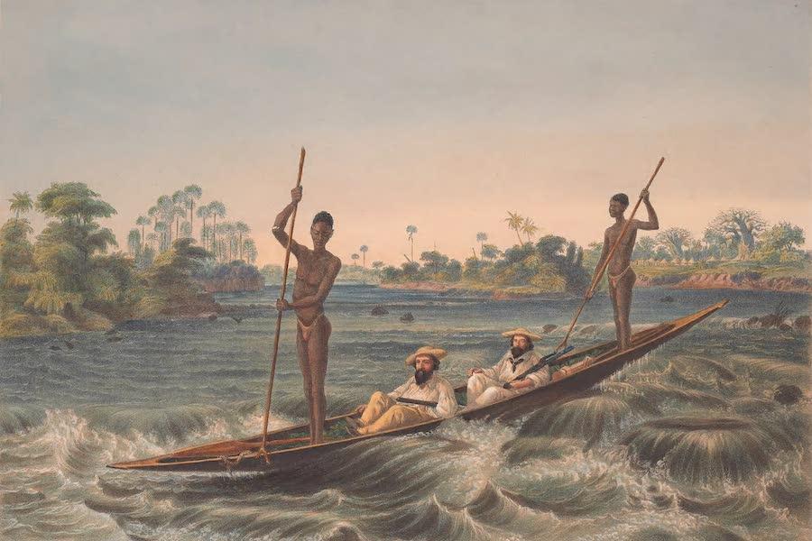 Victoria Falls, Zambesi River - Zanjueelah, the Boatman of the Rapids (1865)