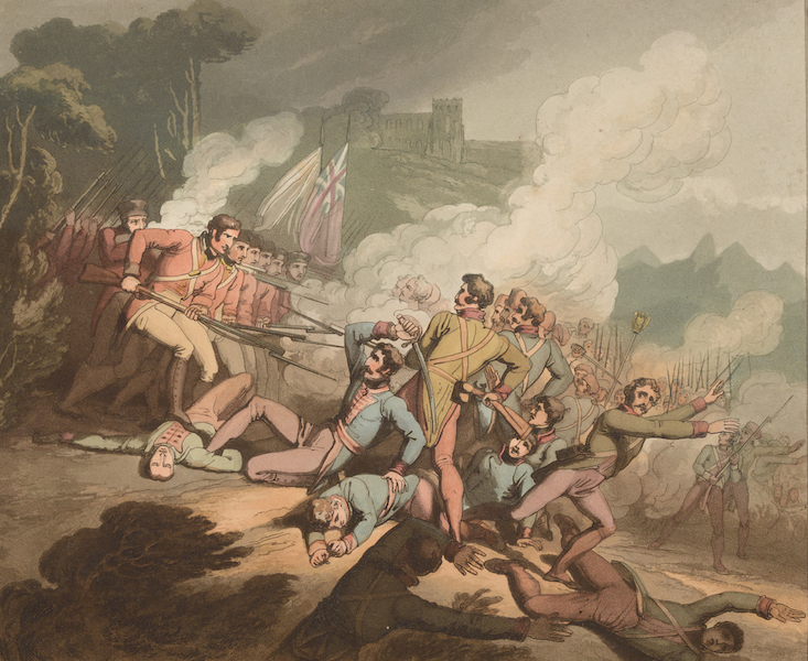 Victories of the Duke of Wellington - Battle of Busaco in 1810. (1819)