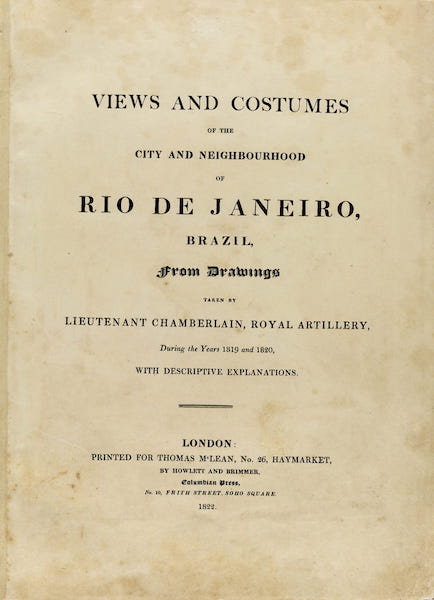 Views and Costumes of the City and Neighbourhood of Rio de Janeiro - Title Page (1822)