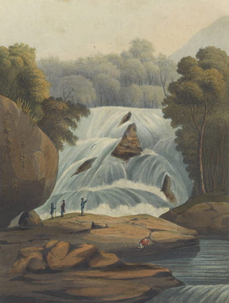 Views and Costumes of the City and Neighbourhood of Rio de Janeiro - The Waterfall of Tijuca (1822)