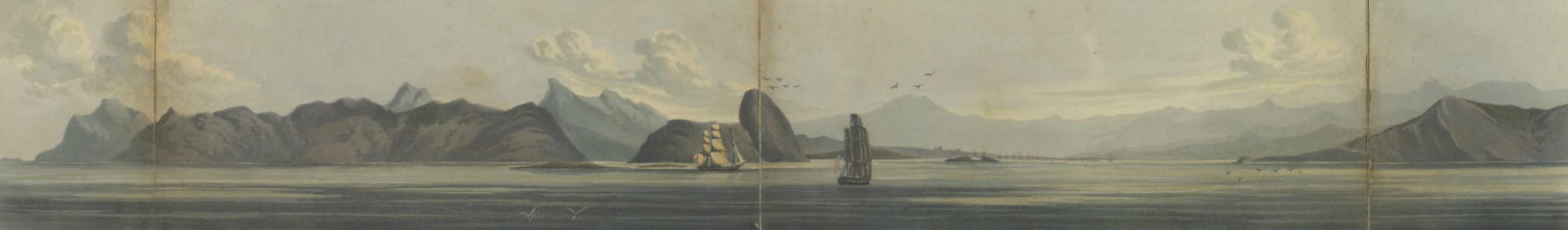 Entrance to the Harbour of Rio de Janeiro . Sugar Loaf about Two miles Distant