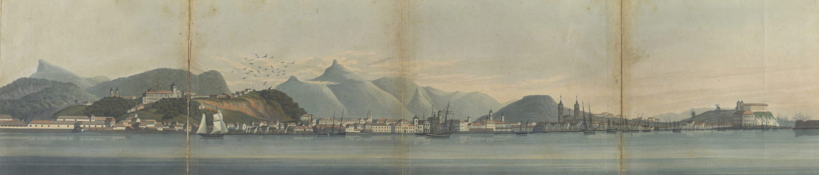 Views and Costumes of the City and Neighbourhood of Rio de Janeiro - View of the City of Rio de Janeiro taken from the Anchorage (1822)