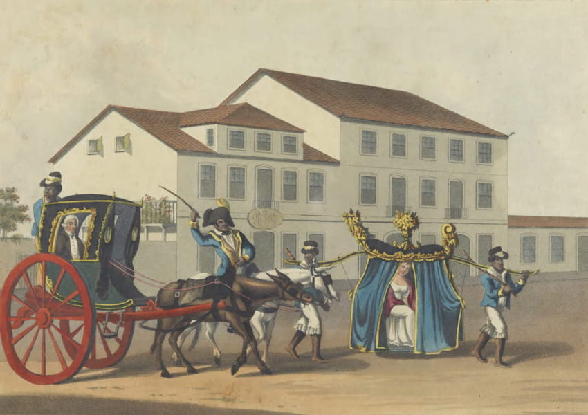 Views and Costumes of the City and Neighbourhood of Rio de Janeiro - The Chege and Cadeira (1822)