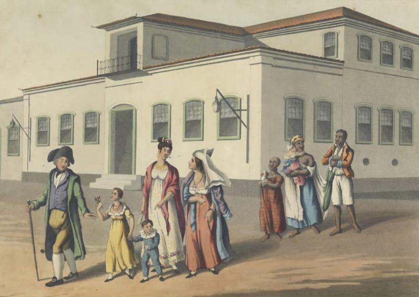 Views and Costumes of the City and Neighbourhood of Rio de Janeiro - A Brazilian Family (1822)
