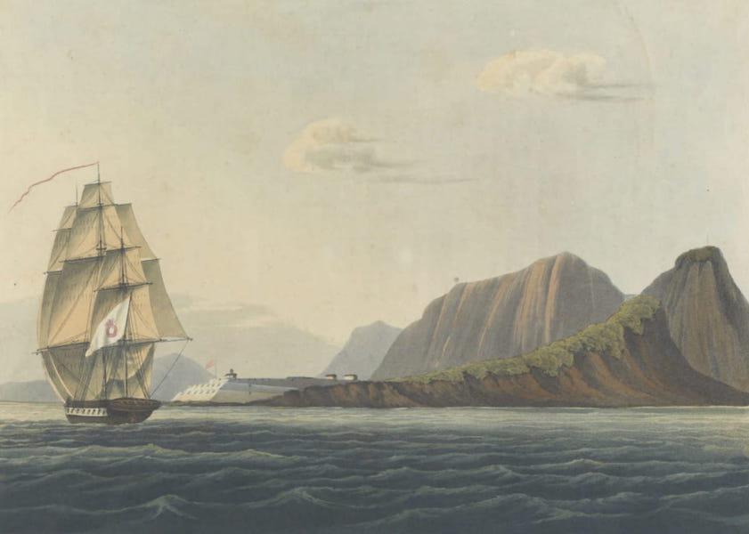 Views and Costumes of the City and Neighbourhood of Rio de Janeiro - S.W. View of Fort Santa Cruz (1822)